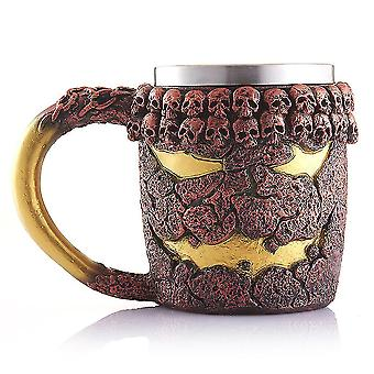 Halloween Drinking Cup Magma Monster Cup Stainless Steel Liner Mug Double-layer Water Cup Coffee Cup