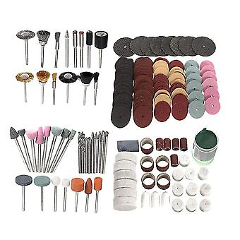 222pcs Electric Grinding Tools Set Electric Grinder Accessories Wool Polishing Pad Grinding Needle Brush Polishing Paper Cutting Discs Polishing Paste
