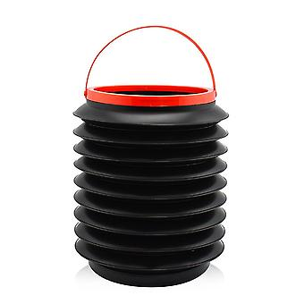 Összecsukható szemetes / kültéri hordozható behúzható vödör / autós tároló vödör színes doboz csomagolás