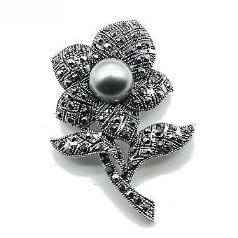 Retro Women Brooch Flower Corsage Scarf Clip Jewelry Brooch Pin