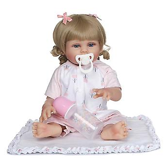 48Cm újjászületett baba két szín bőr puha teljes test szilikon fürdő játék vízálló lány két szín haj kézzel készített baba