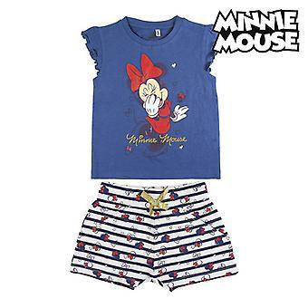 Conjunto de roupas Minnie Mouse Azul Branco
