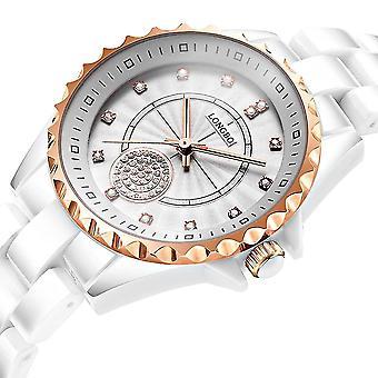 LONGBO 80027 Crystal Quartz Watch Exquisite Dial Casual Women Wrist Watch