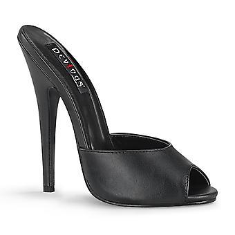 Devious Women's Shoes DOMINA-101 Blk Faux Leather