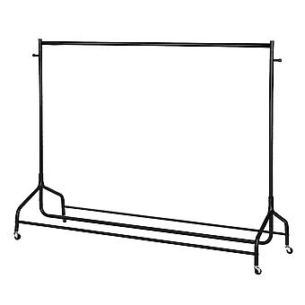 6ft Garment Rail Clothes Hanging Display Rack With Shoes Storage