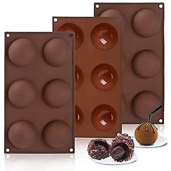 Half Ball Sphere Silicone Cake Mold, 6 Holes Shape Half Sphere Mold,dome Mousse,bpa Free Cupcake Baking Pan
