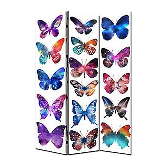 Fine Asianliving Room Divider Privacy Screen 3 Panneaux W120xH180cm Papillons