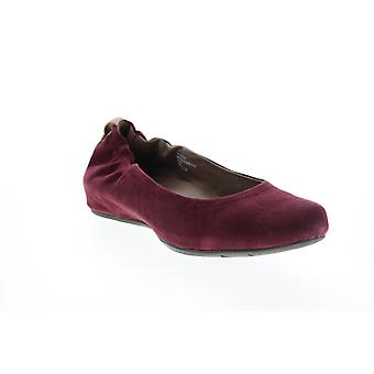 Earthies Adult Womens Suede Tolo Flat Ballet Flats
