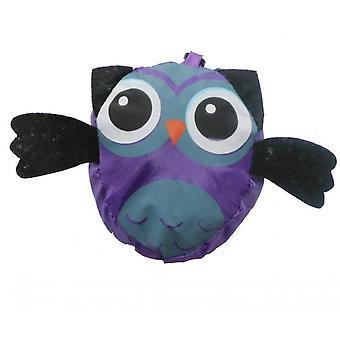 Animal Shopping Bag Portable Cute Owl Folding Storage Bag(Purple)