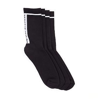 Emporio Armani Loungewear 2 Pack Sponge Short Socks - Black