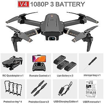 V4 RC drone 4k hd ευρείας γωνίας κάμερα 1080p wifi fpv drone διπλή κάμερα quadcopter σε πραγματικό χρόνο