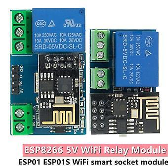 Esp8266 esp-01 esp-01s 5v wifi rele moduuli asiat älykäs koti kaukosäädinkytkin puhelin sovellus langaton wifi moduuli arduino