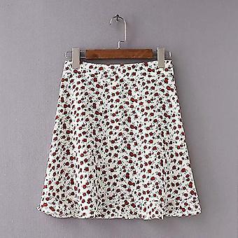 Summer Beach Casual Floral Printed Mini Skirt For Female