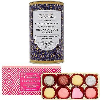 Martin's Chocolatier csokoládé kóstoló csomag és forró csokoládé ajándék szett   Tejcsokoládé   Csokoládé fogyasztása