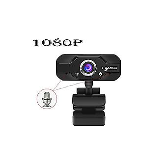 Hxsj S60 Webcam 1080p Camera 1920*1080 Black 100w Pixels Adjustable 180 Degrees Up And Down Head Rotated 360 Degrees For Laptop