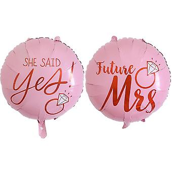 1Pcs 4d 22inch bride to be foil balloon wedding decor she said yes crown inflatable air balloon birthday bachelor party supplies