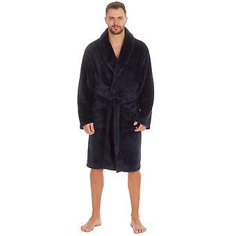 Pierre Roche Mens Kingsize Flannel Fleece Robe