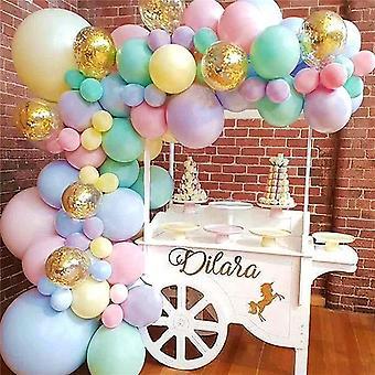 Macaron Farbe Ballon Set Hochzeit Festival Geburtstag Party Dekoration 103pcs