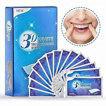 3d الأبيض الأسنان Whitestrips مزدوجة مرنة جل الفم النظافة تبييض الأسنان شرائط