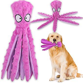 Pes Interaktivní hra hračka, žádná nádivka Chobotnice Pes žvýkat hračku s crinkle papír pro střední pes hraní