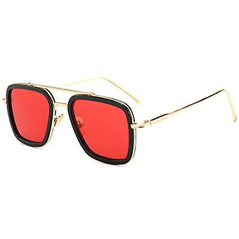 Tony-stark Edith Avengers Iron-man Slnečné okuliare Retro štvorcové okuliare