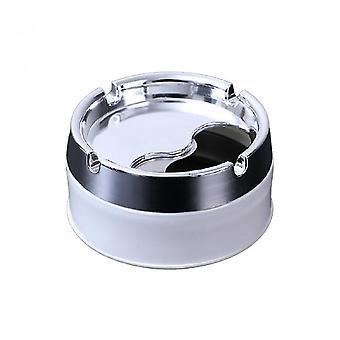 Venalisa Ménage Amovible Couvercle Rotatif 360 Degrés Rotation Libre Acier Inoxydable Résistance à la Corrosion Portable Cigarette Cendrier