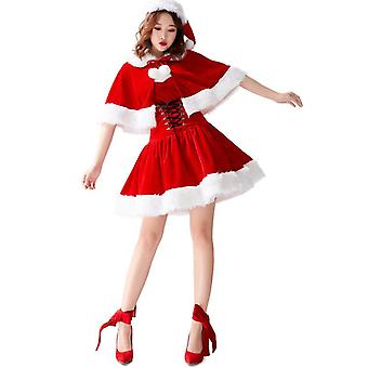 Christmas Dress With Shawl,sexy Fashion Costumes For Christmas