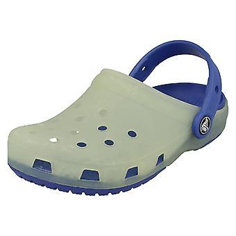 Детский Crocs скольжения на мулов - стиль - хамелеоны Trnslcnt Clg K