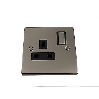 Causeway 1 Gang 13A DP Ingot Switched Socket, Satin Chrome