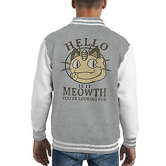 مرحبا هل هو ماض Meowth تبحث عن سترة إسكواش البوكيمون كيد