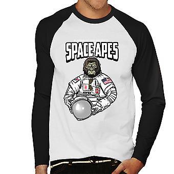 Ruimte apen mannen honkbal lange mouwen T-Shirt
