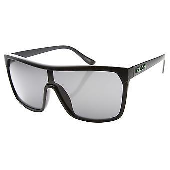 درع كبير التصميم مستقبلية الدخان عدسة النظارات الشمسية