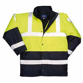 Portwest - Hi-Vis sikkerhet kontrast trafikk Workwear jakke