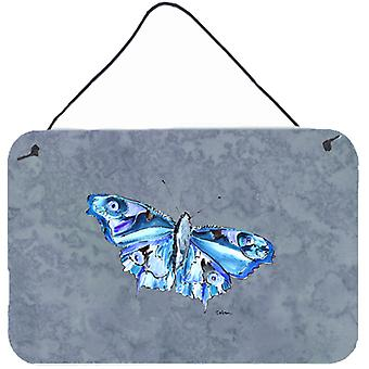 Butterfly on Gray Aluminium Metal Wall or Door Hanging Prints