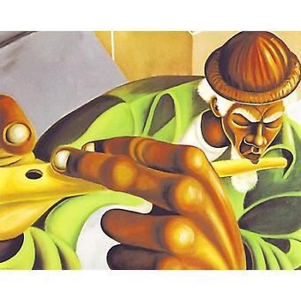 Serenading gaden plakat Print af Cbabi Bayoc (14 x 11)