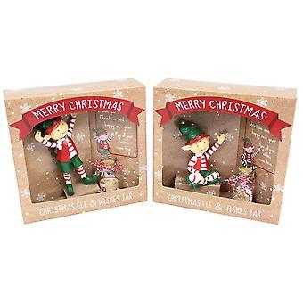 Christmas Elf Xmas magiske gøre et ønske krukke
