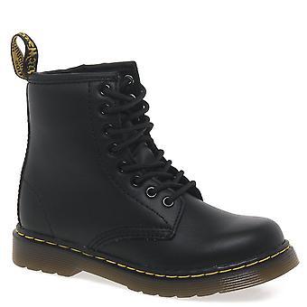 Dr. Martens Delaney Kids Black Softy T Leather Boots