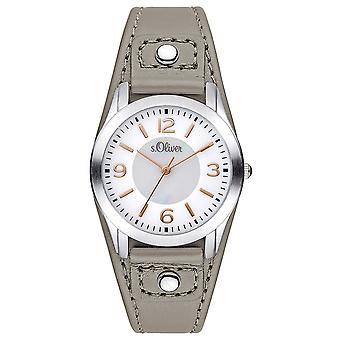 couro de relógio de pulso relógio s.Oliver feminino SO-3241-LQ