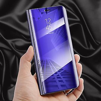 Voor Samsung Galaxy A6 plus A605 2018 Schakel weergave spiegel spiegel slimme cover paarse gevaldekking van het beschermende etui tas zaak nieuwe zaak wake UP functie