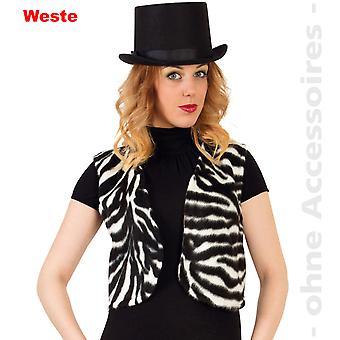 Zebra vrouwen wild paard Afrika zwart wit vest Womens kostuum