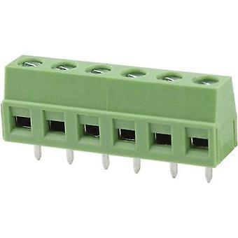 Degson DG127-5.08-02P-14-00AH Screw terminal 2.08 mm² Number of pins 2 Green 1 pc(s)