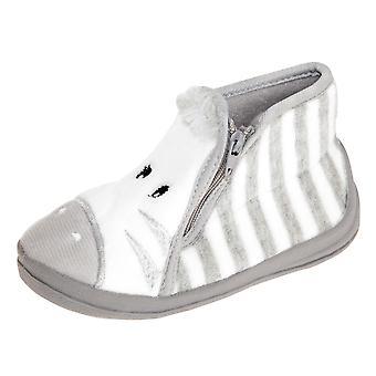 Slumberzzz Kids/Childrens Zebra Slipper Boots