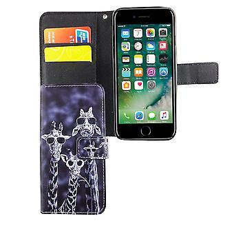 Mobiele telefoon case etui voor telefoon Apple iPhone 6 / 6 s 3 giraffen