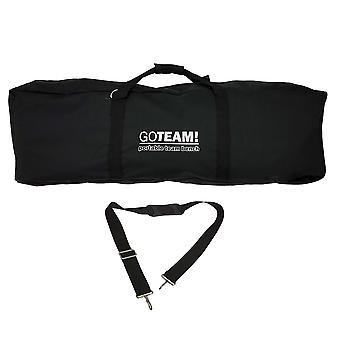 GoTEAM 3 Seat Portable Folding Couch - Foldable Travel Bench Chairs with Carry Case - Perfect for Beach, Camping, Fishing, Soccer and more