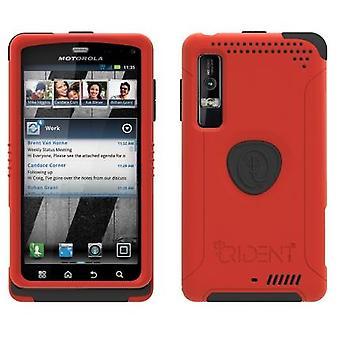 Trident Aegis Case for Motorola Droid 3 XT862 / Milestone 3 XT861 (Red)