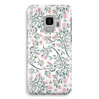 Samsung Galaxy S9 Full Print Case (glanset) - delikat blomster