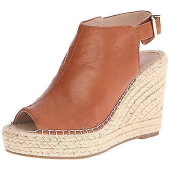 Kenneth Cole New York Womens Olivia läder Peep Toe Casual espadriller sandaler