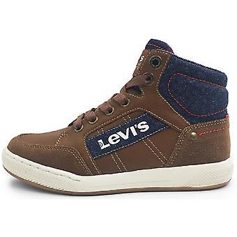 Levis Boys Madison Hi Boots Tan Navy