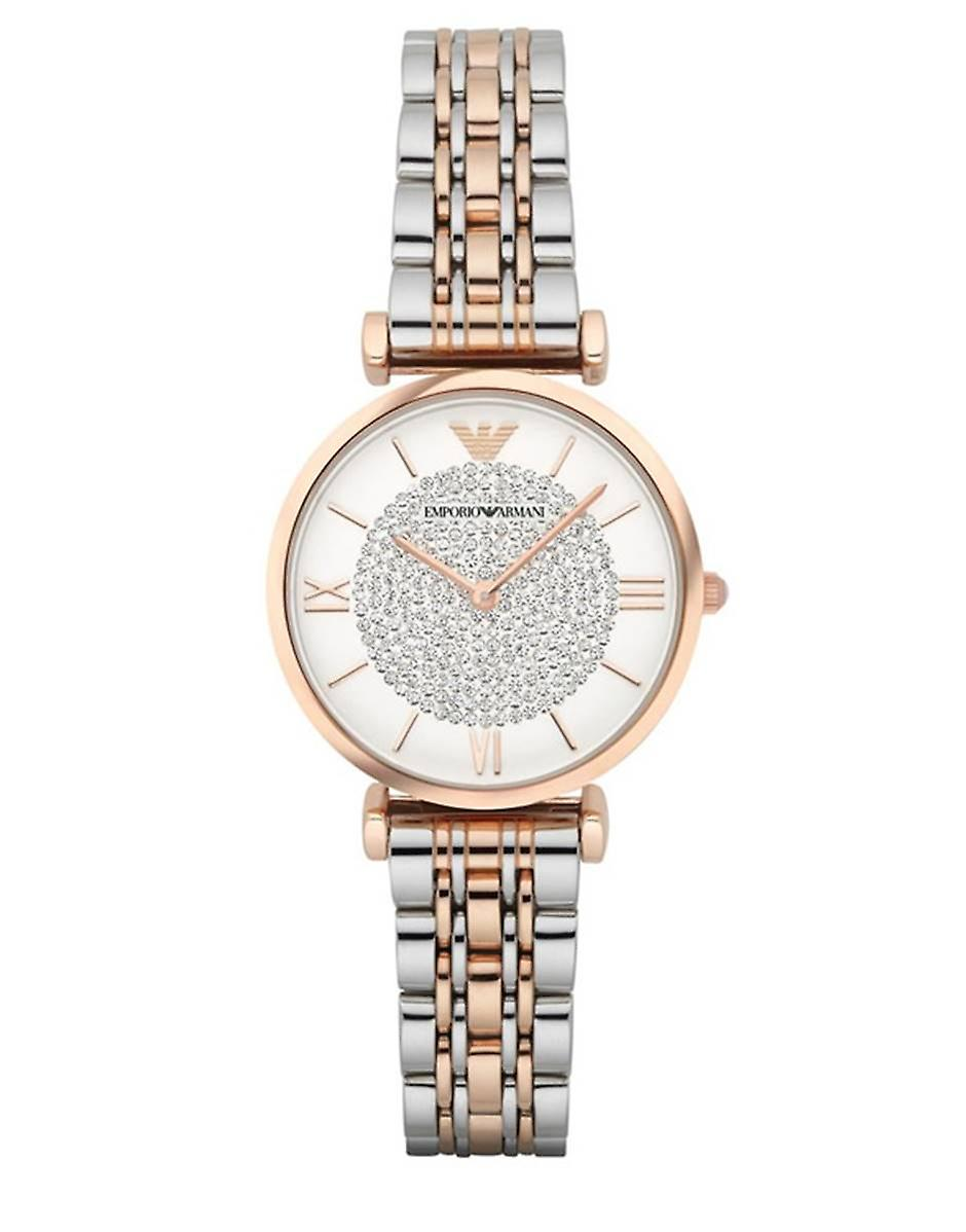 Emporio Armani Womens' Watch - AR1926 - wit/staal/goud