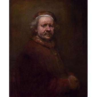 صورة ذاتية يبلغ من العمر 63 عامًا، رامبرانت هارمنسون فان ريجن، 50x40 سم